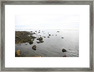 Maine Bay Framed Print by Dennis Curry