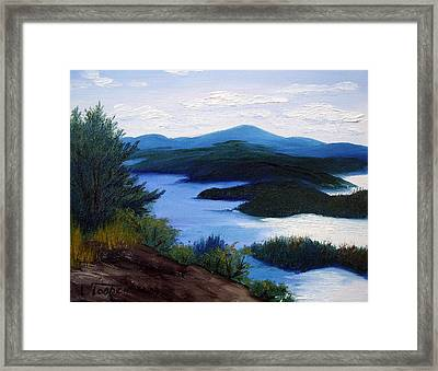 Maine Bay Islands  Framed Print by Laura Tasheiko