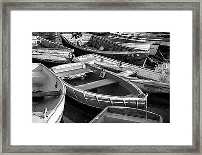 Maine Boats Framed Print