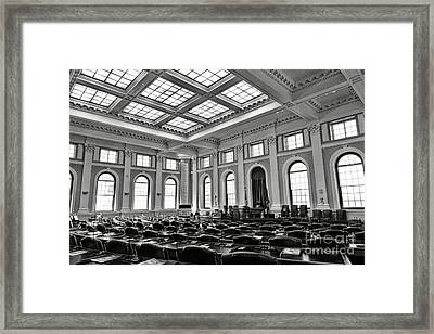 Maine Capitol House Of Representatives Chamber Framed Print by Olivier Le Queinec