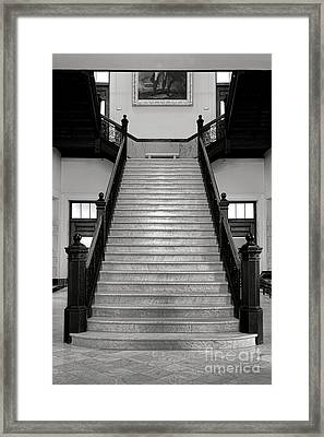 Maine Capitol West Wing Staircase Framed Print