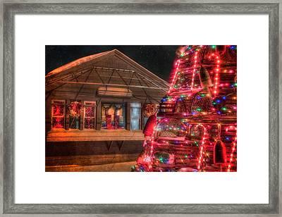 Maine Christmas Scene Framed Print