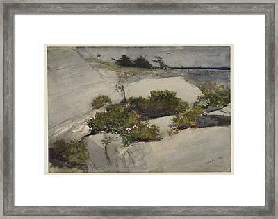 Maine Cliffs Framed Print
