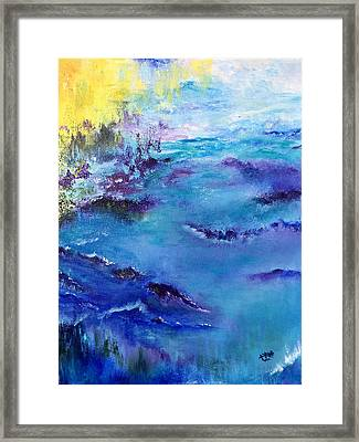Maine Coast, First Impression Framed Print