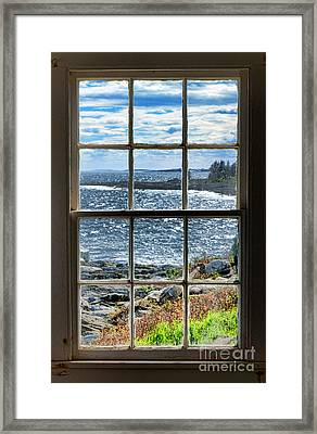 Maine Coast Picture Frame Framed Print by Olivier Le Queinec