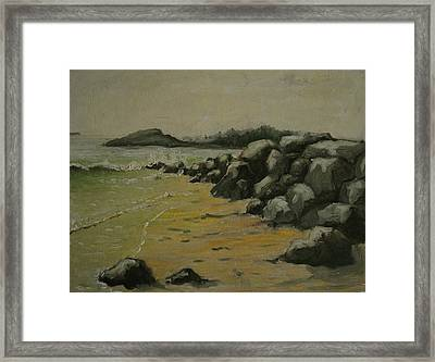Maine Coast Usa Framed Print by Chris  Riley