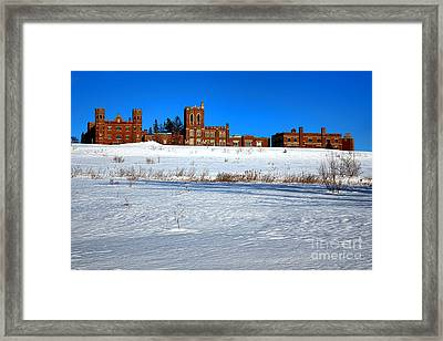 Maine Criminal Justice Academy In Winter Framed Print by Olivier Le Queinec
