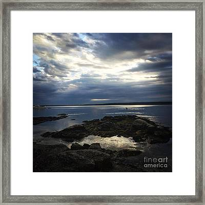 Maine Drama Framed Print