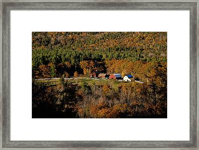 Framed Print featuring the photograph Maine Fall Colors by Gary Cloud