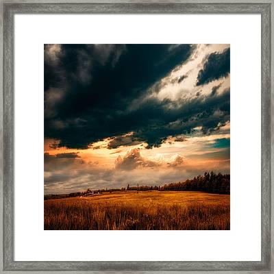 Maine Farm Framed Print by Bob Orsillo