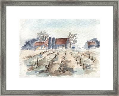Maine Farm Framed Print by Jan Anderson