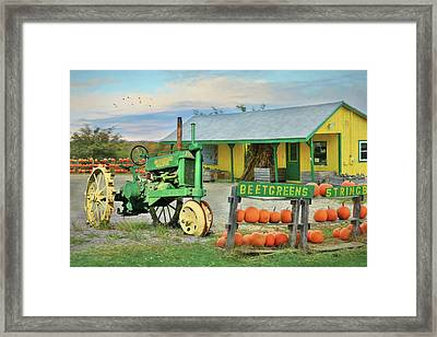 Maine Farm Market Framed Print by Lori Deiter