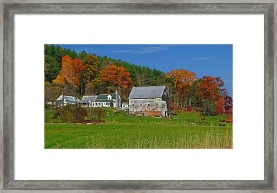 Maine Farmhouse Framed Print by Krag Anderson