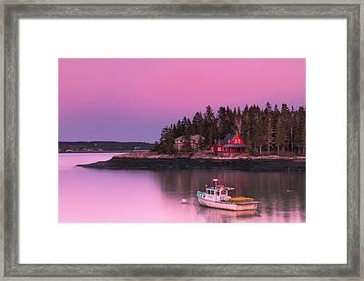 Maine Five Islands Coastal Sunset Framed Print