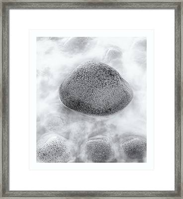 Maine Granite Framed Print by Chad Tracy