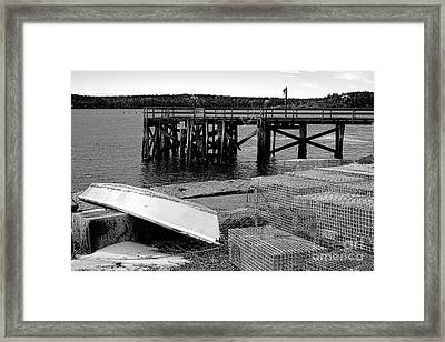 Maine Harbor Scene Framed Print