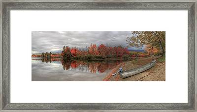 Maine Lake In Autumn Framed Print