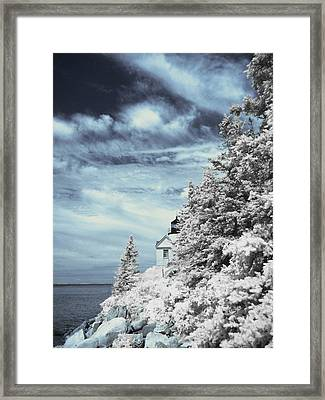 Maine Lighthouse Framed Print by Bob LaForce