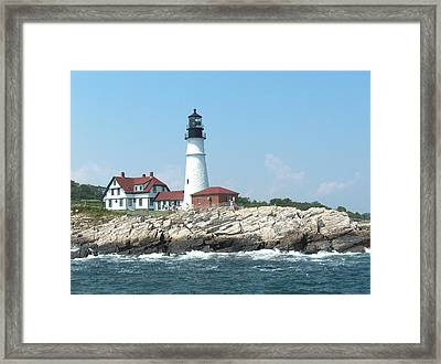Maine Lighthouse Framed Print by Rita Tortorelli
