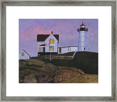 Maine Lighthouse Framed Print by Robert Bissett