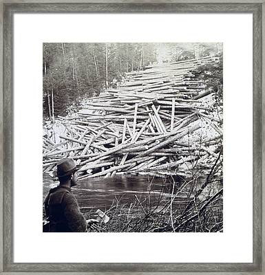 Maine Logging -  C 1903 Framed Print