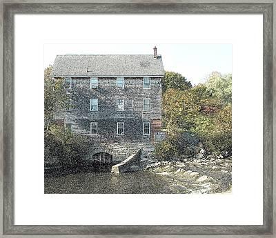 Maine Mill Framed Print