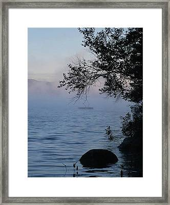 Maine Mist Framed Print