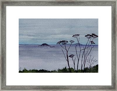 Maine Moody Distance Framed Print