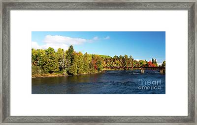 Maine Rail Line Framed Print