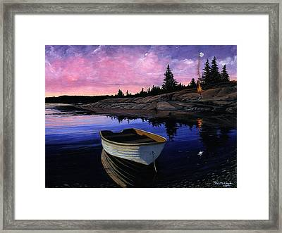 Maine Reflections Framed Print by M S McKenzie