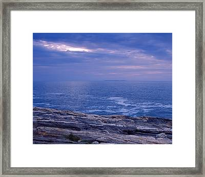Maine Seascape Framed Print