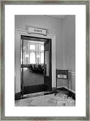 Maine Senate Chamber Doorway Framed Print by Olivier Le Queinec