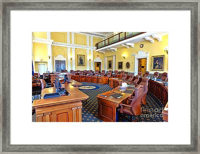 Maine Senate Chamber Framed Print by Olivier Le Queinec