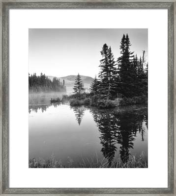Maine Solitude Framed Print by Michael Hubley