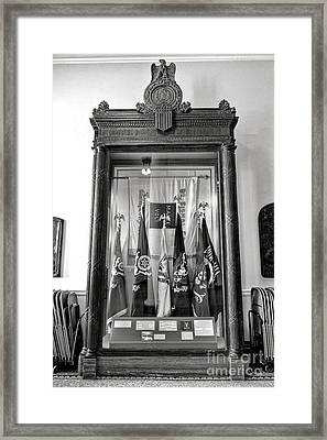 Maine State Capitol Hall Of Flags Modern Conflicts Display Case Framed Print by Olivier Le Queinec