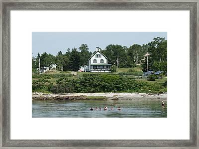 Maine Summer Framed Print by Lois Lepisto