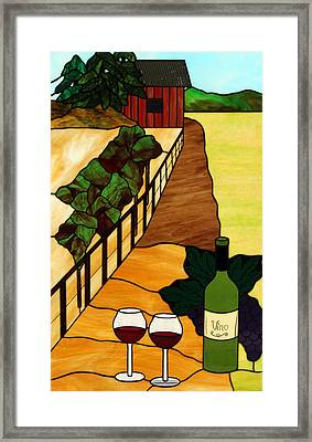 Maine Vineyard Framed Print by Jane Croteau