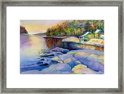 Maine Winter Framed Print by Linda Emerson
