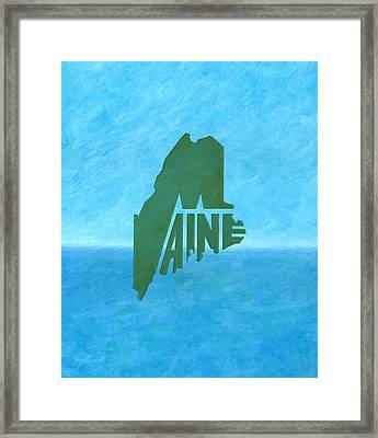 Maine Wordplay Framed Print