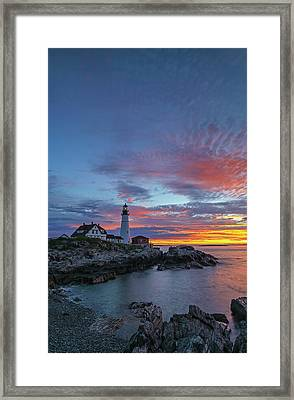 Framed Print featuring the photograph Maine Worth A Visit Worth A Lifetim by Juergen Roth