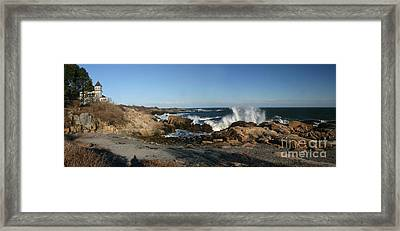 Maines' Rocky Coast Framed Print by David Bishop