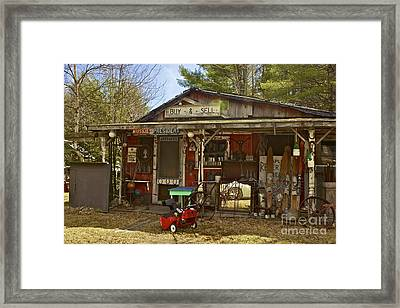 Maine..the Way Life Should Be Framed Print by Alice Mainville