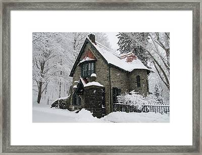 Mainline Gatehouse In The Snow Framed Print