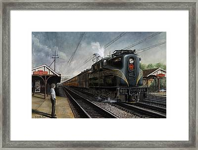 Mainline Memories Framed Print by David Mittner