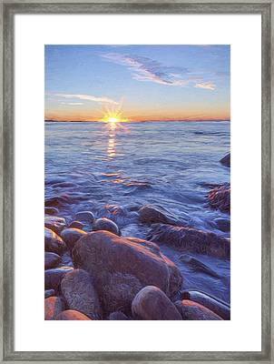 Mainly Water II Framed Print by Jon Glaser