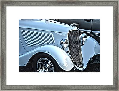 Mainstream Class Vintage Ford Car Art Framed Print by Lesa Fine
