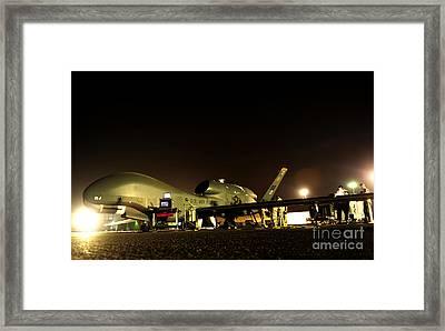 Maintenance Performed On A Rq-4 Global Framed Print by Stocktrek Images