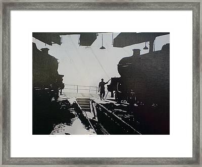 Maintenance Sheds Holbeck Leeds Framed Print