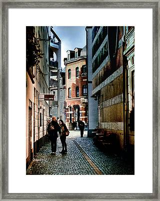 Framed Print featuring the photograph Mainz Badergasse by Jim Hill