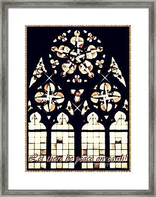 Mainz Cathedral Window Card 2 Framed Print by Sarah Loft